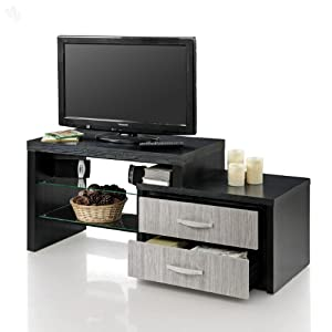 Entertainment Unit with Dark & Grey Finish