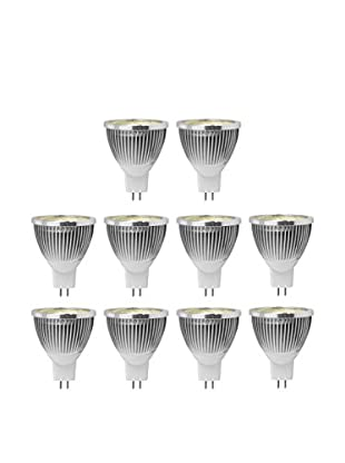 Unotec Set Bombilla 10 Uds. Led Mr16C45-5W Blanco