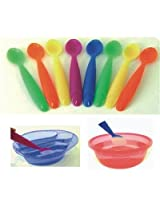 The First Years Take and Toss Color Changing Spoons - Pack of 10 (Multi Color)