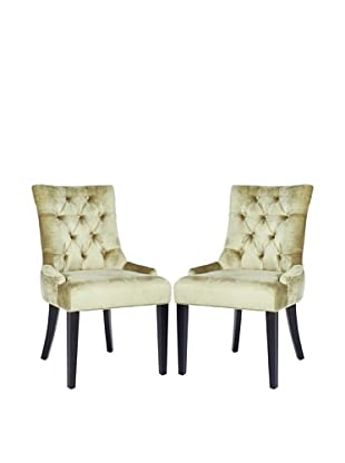 Safavieh Set of 2 Ashley Side Chairs, Antique Sage