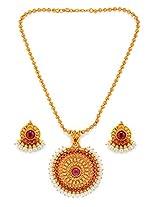 Alankruthi Gold copper Pendant for Women