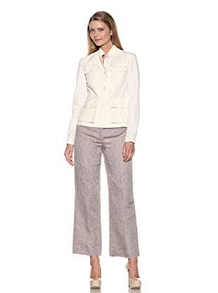 Loro Piana Women's Benghazi Poker Dyed Jacket (White)