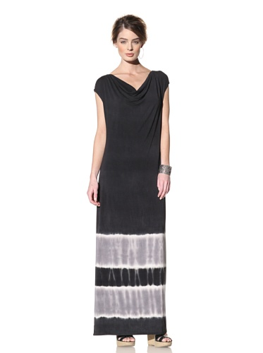 Nola Z Women's Sleeveless Maxi Dress with Cowl Neck (Black)
