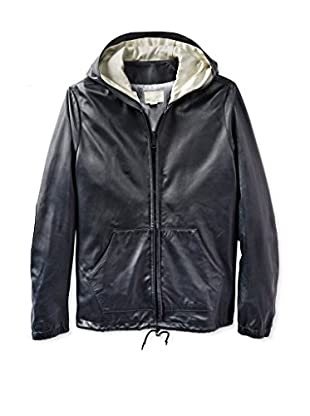 Band of Outsiders Men's Leather Hoodie (True Navy)