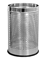 "Stainless Steel Perforated Dustbin ., 7 ltr ., 8"" x 12"""