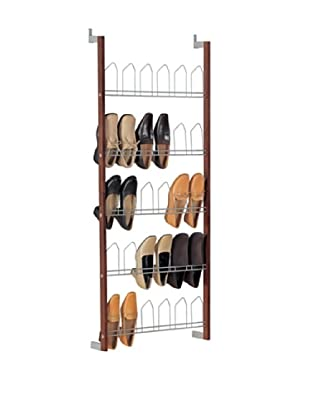Organize It All 15 Pair Overdoor Shoe Rack