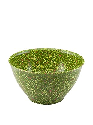 Rachael Ray Garbage Bowl with Non-Slip Rubber Base, Green