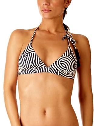 Princess Tam Tam  Sujetador de Bikini Hypnotik (Blanco/Negro)