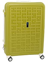 TraVeLite Polycarbonate Cabin Luggage Bag 55cms Green (3 Year Warranty)