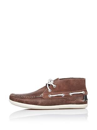 Sebago Zapato Botín Con Pasalazos (Marrón)