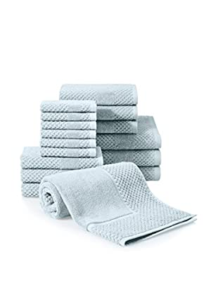 Chortex Honeycomb 16-Piece Towel Set, Duck Egg
