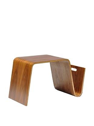 International Design USA Bentwood Magazine Table, Natural Walnut