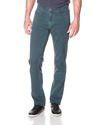 Earnest Sewn Men's 5 Pocket Straight Twill Jean (Washed Emerald)
