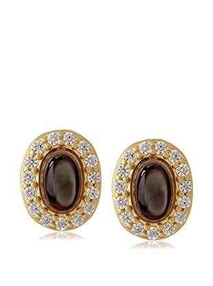 Belargo Grey Oval Stud Earrings