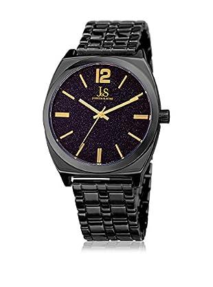 Joshua & Sons Uhr mit japanischem Quarzuhrwerk Man Blue Sandstone schwarz 41 mm