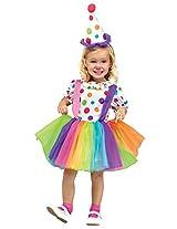 Fun World Costumes Baby Girl's Big Top Fun Toddler Costume, White, Large