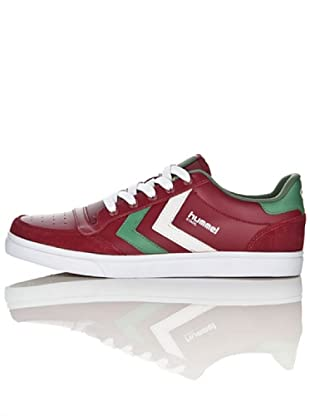 Hummel Zapatillas Stadil Low Unisex (Granate/Blanco/Verde)