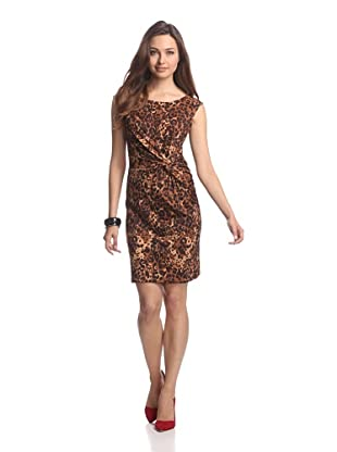 JB by Julie Brown Women's Cammie Knot Front Cap Sleeve (Neutral Cheetah)