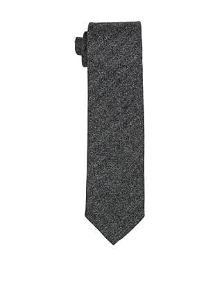 Desanto Men's Herringbone Scozia Tie, Grey