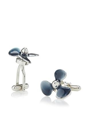 Link Up Blue Boat Propeller Cufflinks