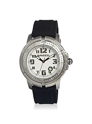 Breed Men's BRD0901 Mach 1 Black/White Silicone Watch