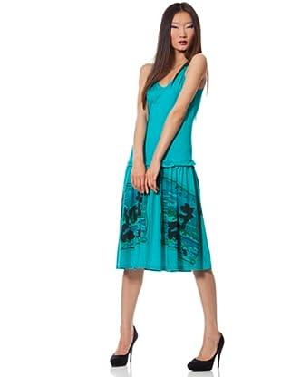 Custo Vestido Munch (Turquesa)