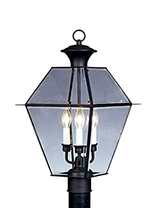 Crestwood Walden 3-Light Post Head, Black