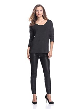 Calvin Klein Women's Sweater with Shoulder Buttons (Heather/Charcoal)
