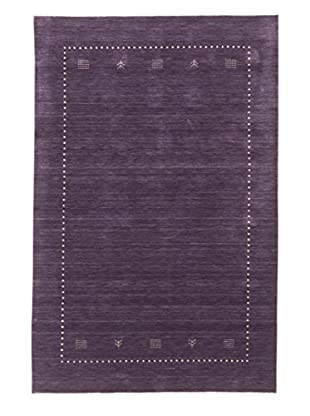 eCarpet Gallery One-of-a-Kind Hand-Knotted Kashkuli Gabbeh Rug, Purple, 5' x 8'