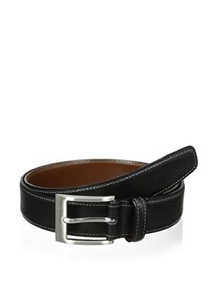 J.Campbell Los Angeles Men's Double-Stitched Belt (Black)