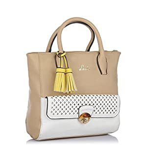 Beige Handbag By Lavie