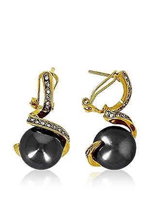 Fashion Victime Ohrringe Equilibre goldfarben/anthrazit