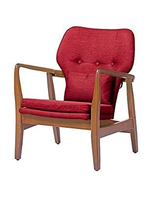 Baxton Studio Rundell Mid Century Upholstered Leisure Chair