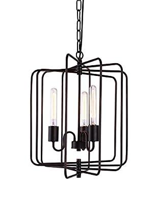 Urban Lights Lewis 3-Light Pendant Lamp, Dark Bronze