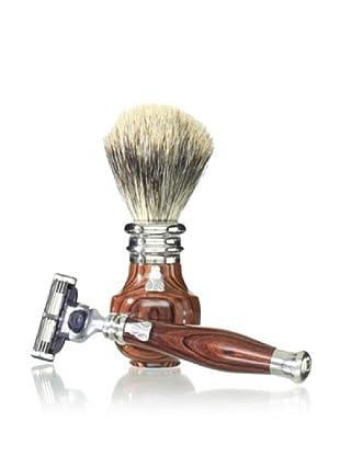 Laguiole En Aubrac Shaving Set (Violet Wood)