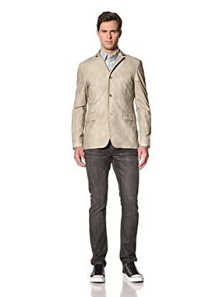 John Varvatos Star USA Men's Pinstripe Jacket with Pickstitch (Clay)