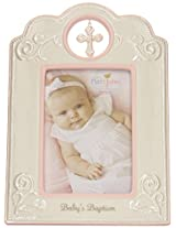 Nat and Jules Baby's Baptism Frame, Pink