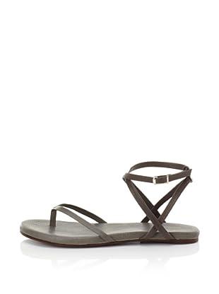 Fiel Women's Nias Criss Cross Ankle Strap Sandal (Grey)