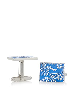 J. Fold Blue Flower Cufflinks
