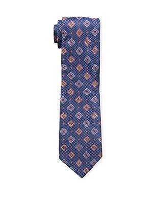 Bruno Piattelli Men's Medallion Silk Tie, Blue