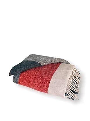 Go Home Toned Throw, Grey/Cream/Red