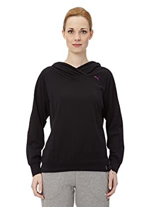 Puma Damen Shirt Pumascript Best Long Sleeved II (Black)