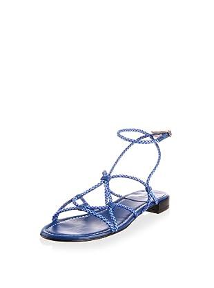 Stuart Weitzman Women's Cordy Sandal (Royal Laniard)