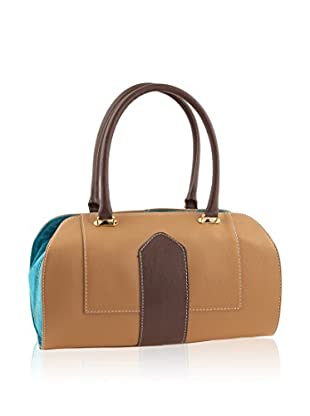 Valentina Italy Schultertasche Laterales camel/blau one size