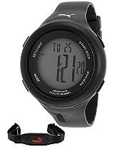Puma Puma Fit Black Heart Rate Monitor Digital Unisex Watch #Pu910961001 - Pu910961001