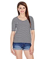 Miss Chase Women's Striped T-Shirt