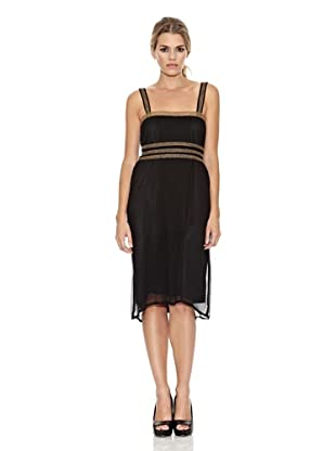 Monoplaza Vestido Plisé (Negro)