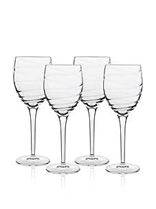 Luigi Bormioli Set of 4 Romantica 13-Oz. All Purpose Wine Stem Glasses