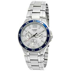 Casio Enticer Analog White Dial Men's Watch - MTP-1300D-7A2VDF (A485)