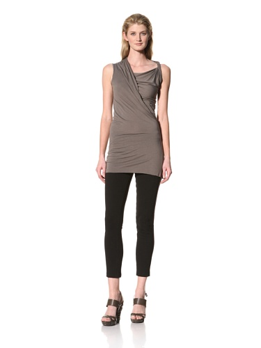 RICK OWENS Women's Twist Shoulder Sleeveless Top (Darkdust)